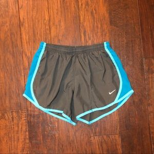 **Green & Blue Youth Large Nike Running Shorts**